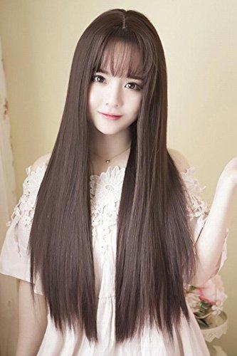 Generic Artificial Hair Women Girls Lady Long Straight Wig Korean Air Liu Hai