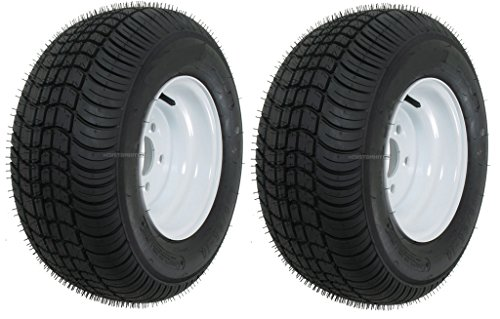 eCustomRim 2-Pack Trailer Tires Rims 20.5 8 10 205/65-10 20.5X8.0-10 10