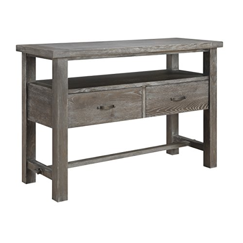 Emerald Home Paladin Rustic Charcoal Gray Buffet with Large Open Shelf And Two (Server Sideboard)