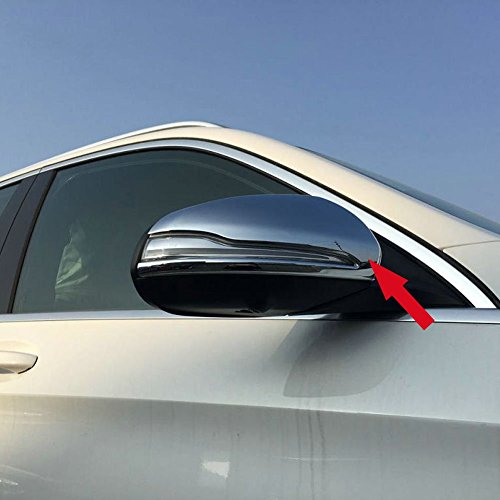 Fit for Mercedes Benz GLC GLC300 2016 2017 2018 2019 Rear View Mirrors Side Molding Cover Trims Chrome ()