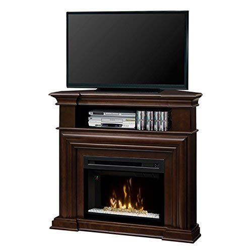 DIMPLEX Electric Fireplace, TV Stand, Media Console, Space Heater and Entertainment Center with Glass Ember Bed Set in Espresso Finish - Montgomery #GDS25HG-1057E