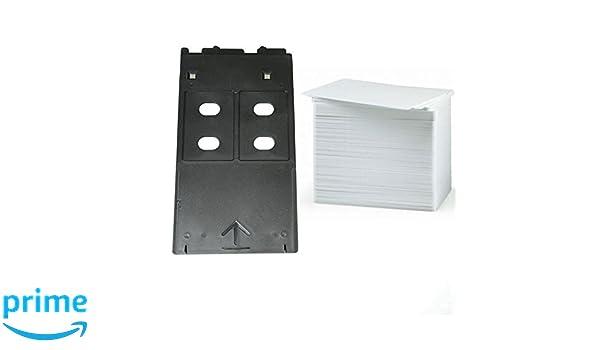 EMORE - Kit de Tarjetas de inyección de Tinta PVC con Bandeja para ...