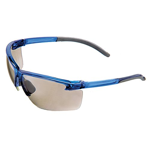 Safety Works 10039206 Flexible Temple Light Gold Mirror Safety Glasses  Light Gold Mirror
