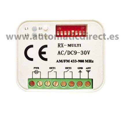 Universal Receiver for Automatic Gates RX Multi compatible