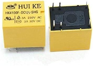 10 Stücke 5 V Relais HK4100F-DC5V-SHG 3A 250Vac 30Vdc Huike Dc Ic Neu ws