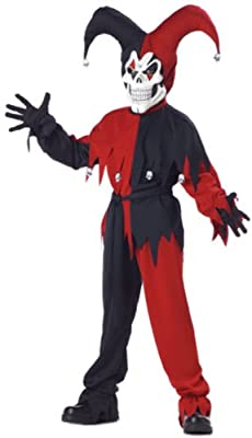 California Costume Evil Jester for Children