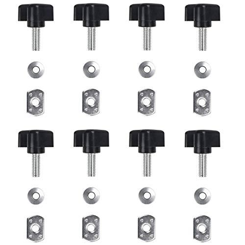 ELONN Hard Top Quick Removal Fastener Thumb Screw & Nut Kit for Jeep Wrangler YJ TJ JK JKU Sports Sahara Freedom Rubicon X & Unlimited X 2/4 Door 1995-2016 - Installs in Seconds (Pack of 8)