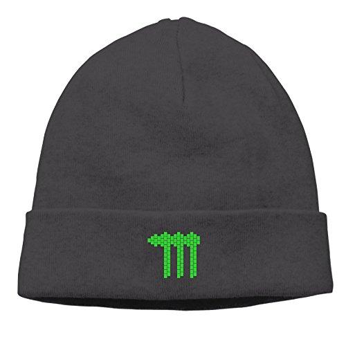Jirushi Unisex Green Tear-shaped M Logo Beanie Cap Hat Ski Hat Caps Ski Hat Caps Black