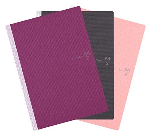 Plus Corporation Wide Notebook, 3 Pack, Black, Rose, Purple (60355) by Plus