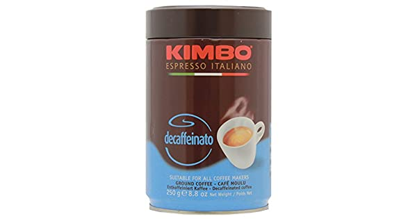 Kimbo Decaffeinato café en lata, 8.82 oz: Amazon.com ...