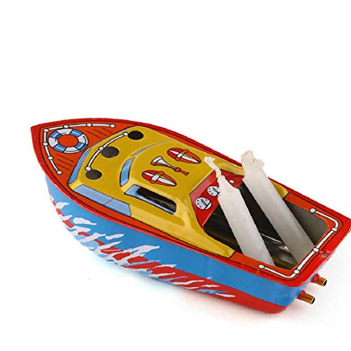 Vacally Candle Boat Nostalgic Theme Personality Decoration Creative Gift Steam Power Toy Boat Children Educational Educational Toys (Toy Boat That Runs On A Candle)