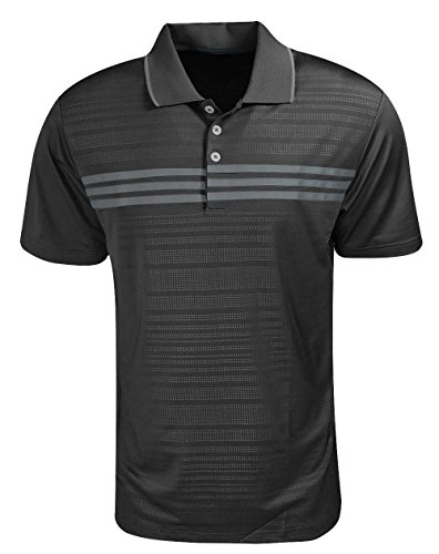 Adidas Golf Puremotion 3-Stripes Chest Polo (Mens Chest Polos Stripe)