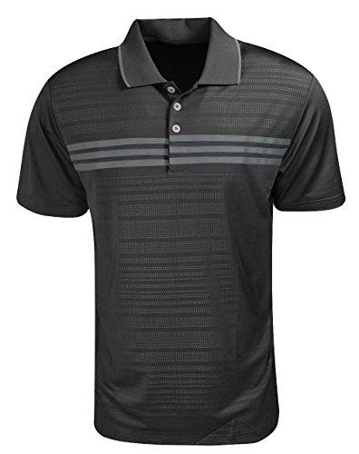 Adidas Golf Puremotion 3-Stripes Chest Polo (Stripe Mens Polos Chest)