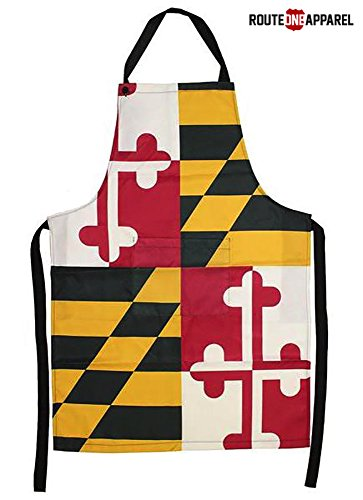 Route One Apparel | Maryland Themed Kitchen Apron (Maryland Flag)