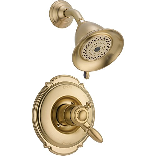 Delta Victorian Dual Control Temp/Volume Champagne Bronze Shower w/ Valve D760V ()