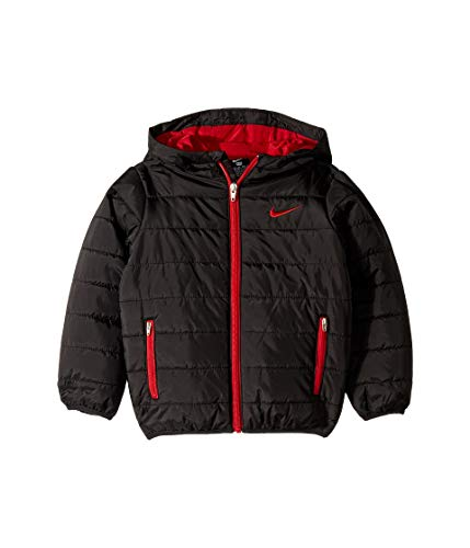 Nike Kids Boy's Quilted Jacket (Little Kids) Black 7 (Quilted Kids Jacket)