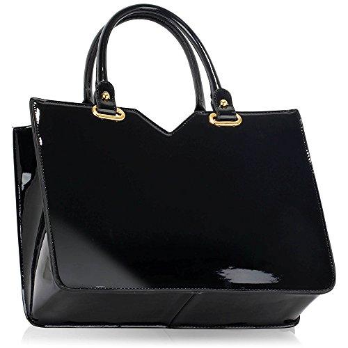 Trendstar Damen Handtaschen Der Frauen Große Taschen Schulterlackleder Konstrukteur Stil Y - Bourgogne etrF6