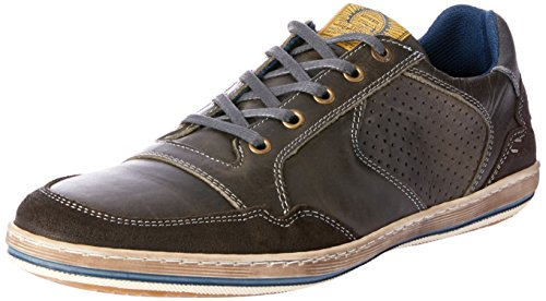 Wild Rhino Men Crest Trainers Shoes Black (BLACK RUB)