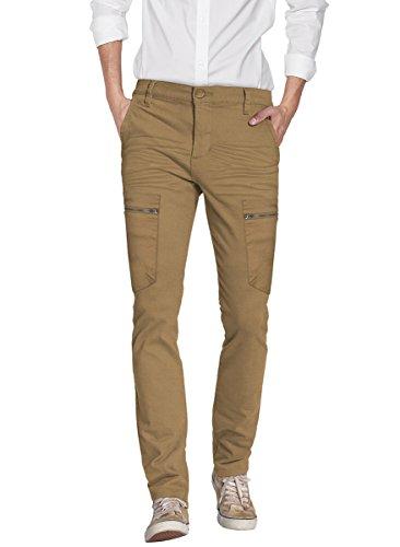 - ETHANOL Mens Super Stretch Slim Fit Trousers Pants AP46076SK PK16 Tobacco 30