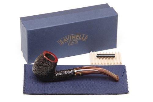 Savinelli Roma Rustic 602 Lucite Stem Tobacco Pipe ()
