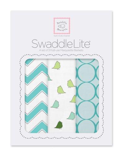 SwaddleDesigns SwaddleLite Marquisette Blankets Turquoise