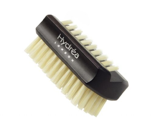 (Hydrea London Dual Sided Rosewood Nail Brush Natural Bristle WRH1 Travel Size)