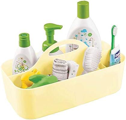 mDesign Caja con asa para bebé con 6 Compartimentos – Caja ...