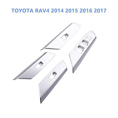 HIGH FLYING RAV4/4 generazione xa40/2014/2015/2016/2017/ABS plastica opaco Interieur portiera scorrevole Alzacristallo barra di copertura Listelli decorativi in 4/pezzi