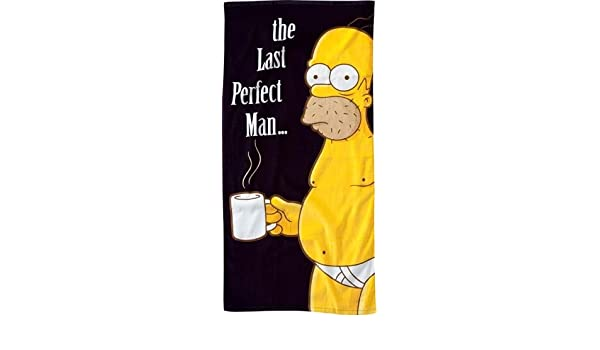Amazon.com: Unitedlabels 0806132 Homer Last perfect man The Simpson Drap de bain: Health & Personal Care