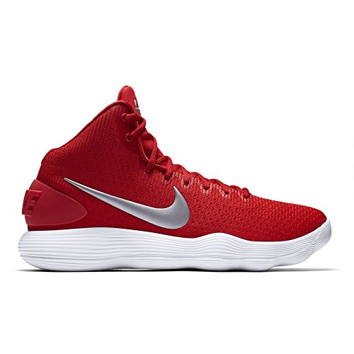 Men's Nike Hyperdunk 2017 TB Basketball Shoe University Red/Metallic Silver/White Size 10 M US by NIKE