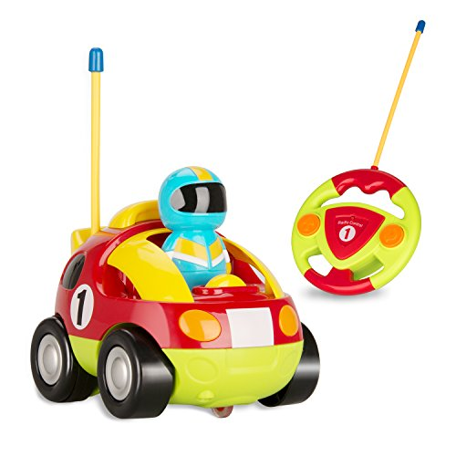C CALOICS Cartoon Remote Control Car Radio Control Toy R/C Race Police Alien Car Baby Toddlers Music and Light Car Toys (Red (Radio Control Race Car)