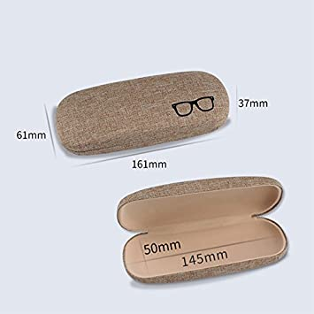 6 3.8cm Gespout Linen Rounded Edges Travel Portable Shockproof Drop Protection Glasses Box Sunglasses Case size 16 Green