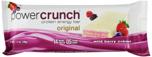 Power Crunch Protein Energy Bar, Original Wild Berry Creme, 5 Little Bars Power Crunch Berry Creme