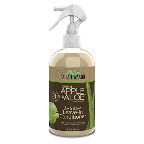 Taliah Waajid Green Apple & Aloe Nutrition Leave-In Conditioner, 12 oz - Strengthens & Moisturizes - Gentle for Daily Use