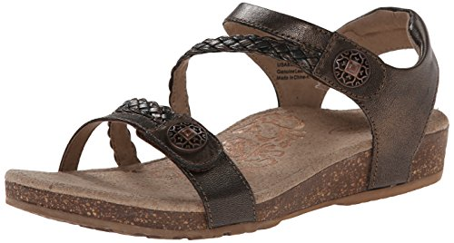 Aetrex Des Femmes De Quart Jillian Bronze Sandale Sangle