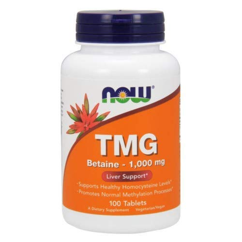 TMG, 1000 mg, 100 Tabs by Now Foods (Pack of 3) (1,000 Mg 100 Tabs)