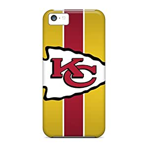 Iphone 5c RCO18441ZmkW Allow Personal Design High Resolution Kansas City Chiefs Pattern Shock Absorption Hard Phone Covers -LavernaCooney