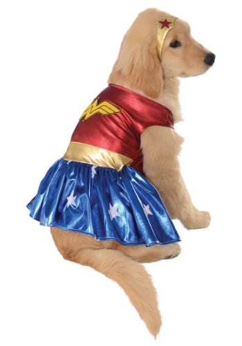 MyPartyShirt Wonder Woman Pet Costume -Dog Medium