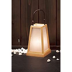 Yamako Japanese Style Lantern White Natural Wood (S) 53371