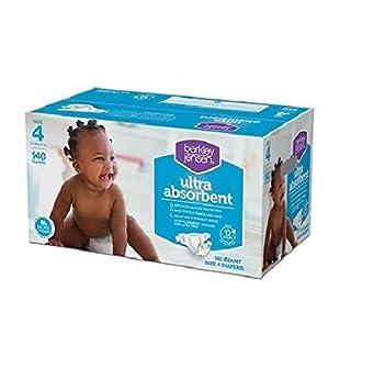 doaaler (TM) Berkley Jensen Tamaño 4 bebé pañales 140 con ideal para uso durante