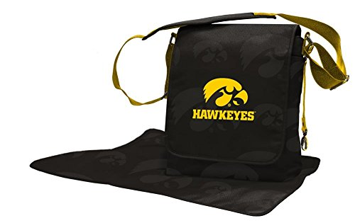 Lil Fan Diaper Messenger Bag, NCAA College Iowa Hawkeyes ()
