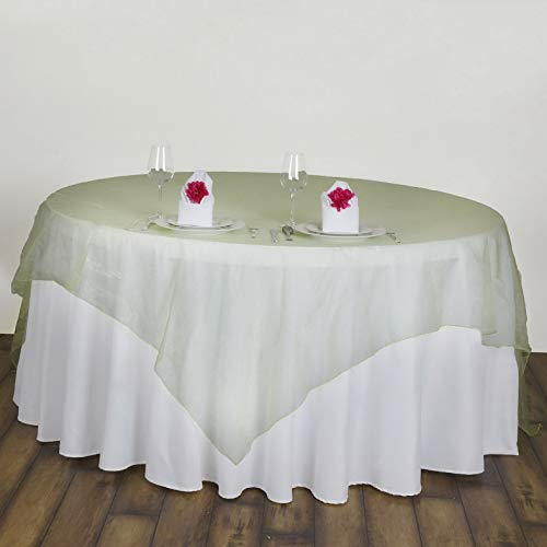 Mikash 6 pcs 72x72 Sheer Organza Overlays Wedding Party Table Decorations | Model WDDNGDCRTN - 18402 |