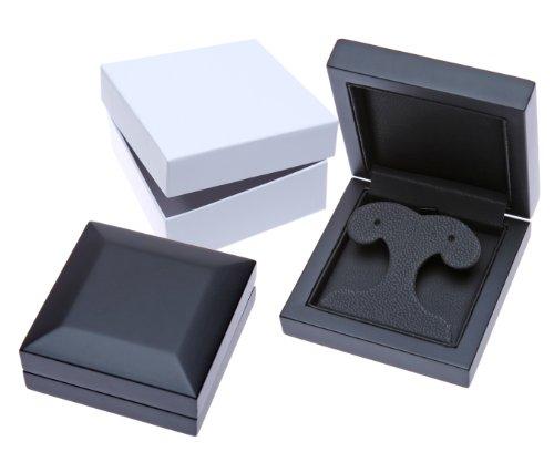 Revoni Bague en or blanc-18carats Halo de diamant certifié G/SI1Triple ascendant-Boucles d'Oreilles Pendantes Femme -