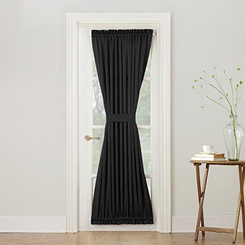 Sun Zero Barrow Energy Efficient Door Panel Curtain with Tie Back, 54