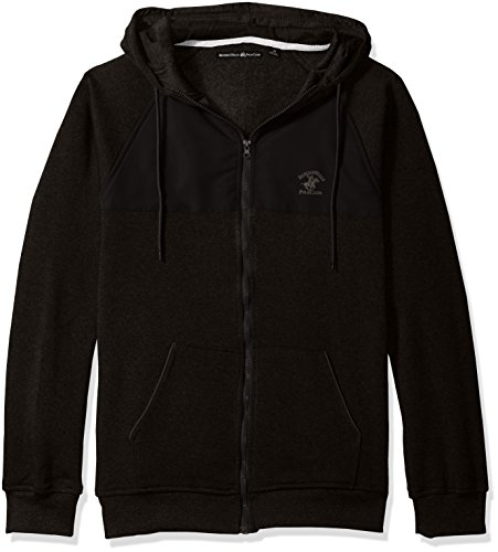 9ae8a609a Beverly Hills Polo Club Men's Full Zip Fashion Hoodie Sweatshirt with Nylon  Piecing, Classic Black, M - Buy Online in Oman. | Apparel Products in Oman  - See ...