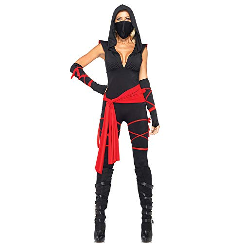 LVLUOYE Halloween Pirate Costume, Anime Ninja Costume, Masked Warrior Woman Uniform Ninja,M -
