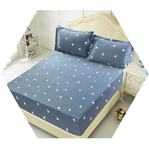 Bed Sheet Pillowcase Blue Flower Linen Queen Size Mattress Covers Sets Elastic King 1 ()