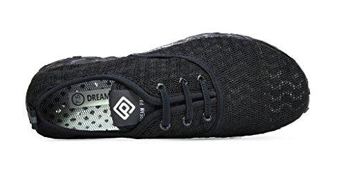 TRAUM-PAAR-Männer athletischer Beleg auf Wasser-Schuhen Alles schwarz