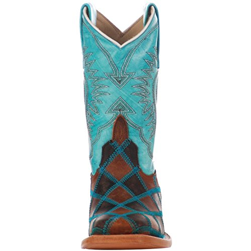 Anderson Bean Boys Kid s Insane in The Membrane Patchwork Cowboy Boots 13 Brown/Turquoise by Anderson Bean (Image #3)