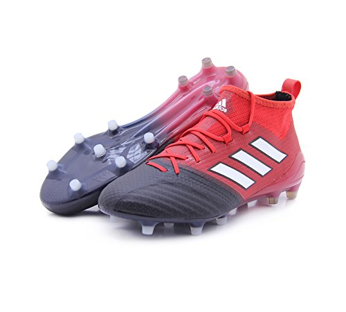(adidas Men's ACE 16.1 Primeknit FG Soccer Cleats (Red/White/Core Black), 8.5 D(M) US)